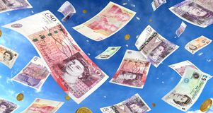 Raining Money Royalty Free Stock Photography