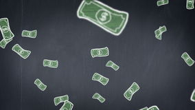 Raining money stock footage