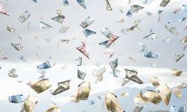 It is raining money . Mixed media Royalty Free Stock Photography