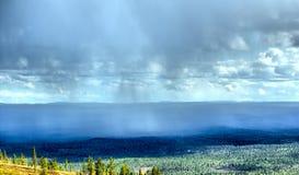Raining in  mountain tundra in  Arctic Royalty Free Stock Photo