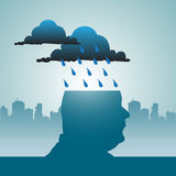Raining in my mind Royalty Free Stock Photography