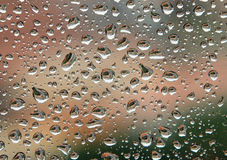 Raining on my window Stock Photography