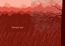 Raining nature landscape Stock Photography