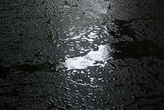 Raining on new asphalt Stock Photo