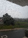 Raining out side Royalty Free Stock Image
