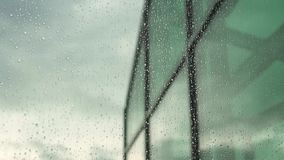 It is raining outside the window. Day concept stock footage