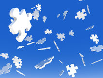 Raining Puzzles Royalty Free Stock Photo