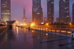 Raining Shanghai Royalty Free Stock Photo
