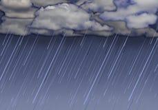 Raining sky with dark clouds Royalty Free Stock Photo