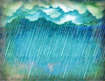 Raining sky.Vintage nature Royalty Free Stock Image