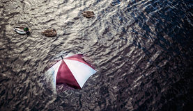Raining too much? Escape the bad weather, vacation concept. Royalty Free Stock Image