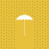 Raining on a umbrella Royalty Free Stock Photography