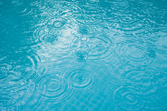 Raining Water Drops. A water surface with raindrop patterns Stock Images