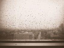 Raining on the window. Stock Photography