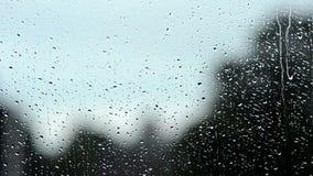 Raining on window Stock Photos