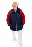 rainjacket seniora kobieta zdjęcia royalty free