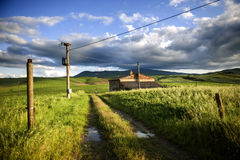 After rainning in tuscany. Italy Royalty Free Stock Images