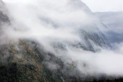 Rainny i mgłowy dzień Zdjęcia Stock