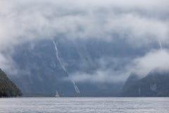 Rainny i mgłowy dzień Zdjęcie Stock