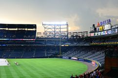 Rainout at Turner Field Stock Photos