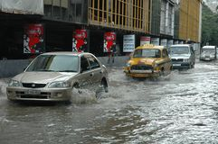 Rains cause water logging in Kolkata Stock Image