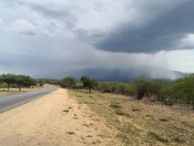 Rains down in Africa. South Africa& x27;s Rains Stock Image
