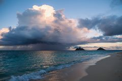 Rainsquall in hawaii Stock Photography