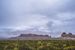Rainstorm in the Arches National Park Stock Images