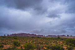 Rainstorm in the Arches National Park Stock Image