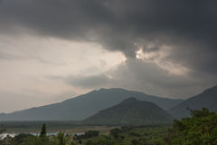 Free Rainstorm Clouds Above Jungle Top Hills In Tamil Nadu. Royalty Free Stock Image - 79214886