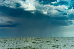 Rainstorm by the lake Stock Image