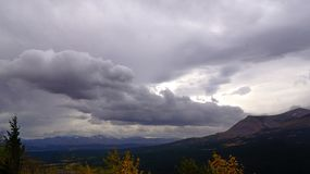 Rainstorm Over Lookout Point, Autumn stock photos
