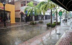 Rainstorm  on  St. Kitts Stock Photo