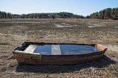 Rainwater Boat Stock Photo