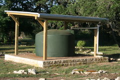 Rainwater Colection System. Environmentally friendly system to collect and reuse rainwater Royalty Free Stock Photos