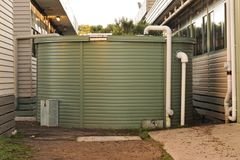 Rainwater collection tank Royalty Free Stock Photos