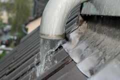 Rainwater drain, gutter Stock Photo