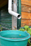 A rainwater harvesting system. Royalty Free Stock Images
