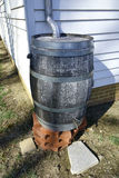 Rainwater Tank Rain Barrel Water Runoff Collector Royalty Free Stock Photography
