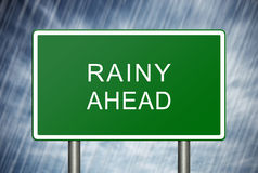 Rainy Ahead Royalty Free Stock Images