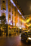 Rainy Autumn Evening in Seven Dials London Royalty Free Stock Photos