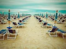 Rainy beach season Royalty Free Stock Image