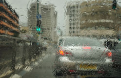 Rainy city. stock images