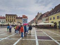 Rainy city break in Brasov, Romania royalty free stock photos