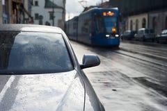 Rainy city Royalty Free Stock Photography