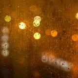 Rainy city window Royalty Free Stock Image