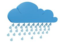 Rainy cloud Stock Images