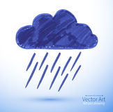 Rainy cloud Royalty Free Stock Images
