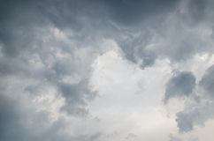 Rainy cloud, gray color background Stock Photos