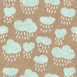 Rainy clouds. Tiny rainy clouds, seamless background,  illustration, eps10 Stock Photos